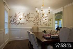 家庭餐厅壁画图片大全