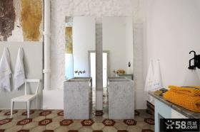 将复古与现代糅合的别墅卫生间装修效果图大全