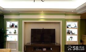美式风格家居背景墙设计装修效果图