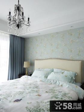 卧室碎花墙纸效果图片大全