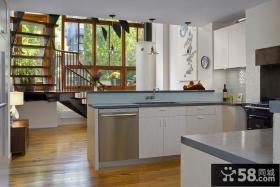 现代简约风格装饰设计厨房整体橱柜图片