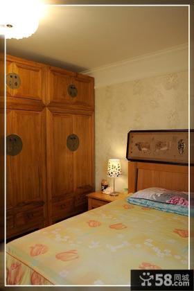 美式风格卧室实木衣柜效果图