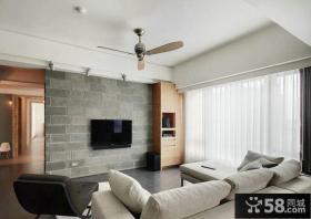 后现代风格设计客厅电视背景墙图片