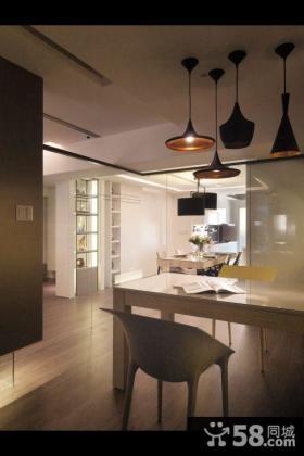 现代风格三室一厅室内餐厅设计图片