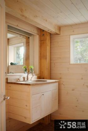 美式田园风格家具卫生间图片