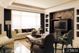 现代风格89平米两室一厅装修图2014