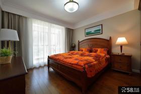 美式装修风格样板房卧室效果图