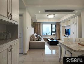 现代小户型室内客厅吊顶装潢效果图