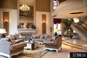 欧式复式楼客厅装修效果图片