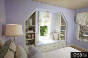 卧室飘窗窗帘布置图