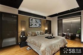中式风格卧室不吊顶装修效果图片欣赏