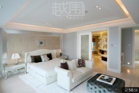 欧式风格大卧室背景墙装修效果图
