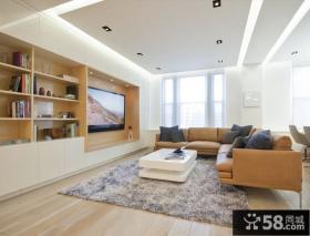 简约风格客厅创意电视背景墙装修