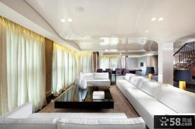 现代别墅走廊吊顶装修效果图