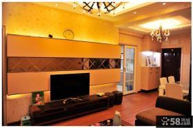 现代电视背景墙装修图片