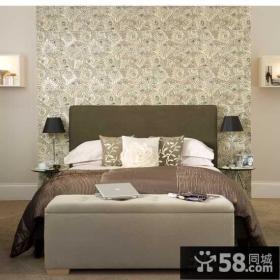 现代简约卧室墙纸效果图大全