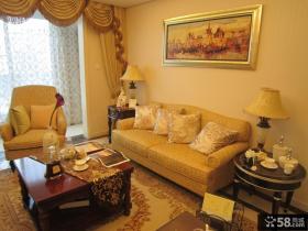 小客厅沙发背景墙装饰画图片