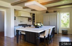 美式乡村风格家装厨房餐厅吊顶图片
