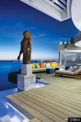 别墅露天阳台设计效果图大全2013图片