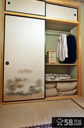 日式纸推门衣柜装修设计