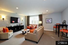 80后现代风格装修 小户型客厅装修效果图