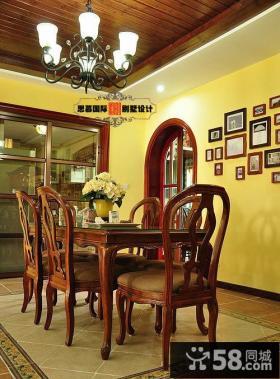 美式风格两室两厅餐厅装修效果图