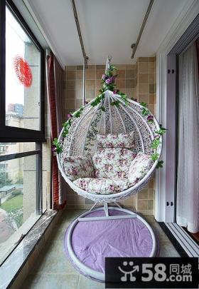 休闲吊椅阳台设计案例