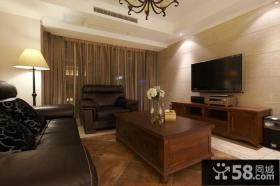 美式风格室内客厅电视背景墙图片欣赏