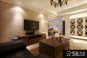 美式风格室内电视背景墙设计
