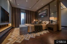 美式新古典风格卧室电视背景墙图片