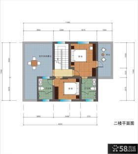 复式楼室内设计平面图图片