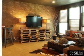 客厅墙砖电视背景墙效果图