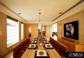 现代豪华大面积餐厅装修