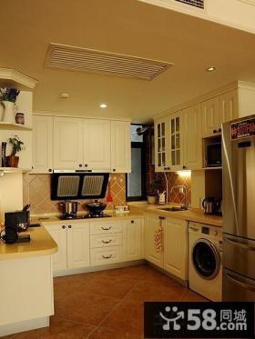 田园风格小户型整体厨房设计效果图