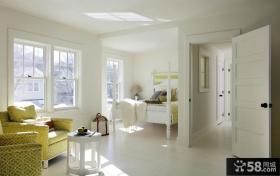 室内白色简约卧室装修效果图