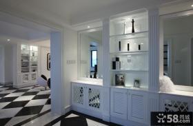 现代风格玄关酒柜效果图片