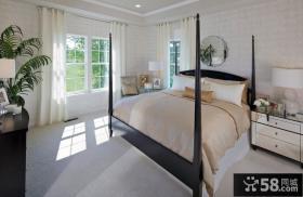 90㎡小户型温馨的宜家风格卧室装修效果图大全2014图片