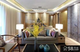 中式现代设计别墅室内装修效果图