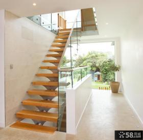 家居室内不锈钢楼梯扶手图片