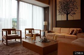 简约中式小户型客厅装修效果图