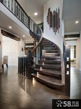 家庭设计室内楼梯效果图大全2014