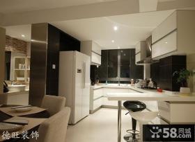 厨房白色橱柜设计效果图片大全