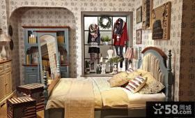 美式乡村风格家居卧室装修图片