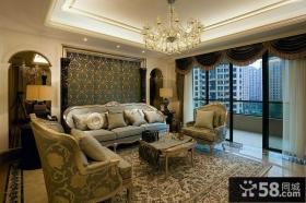 欧式风格客厅沙发背景墙效果图大全