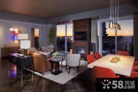 60平小户型美式风格客厅装修 小资情调