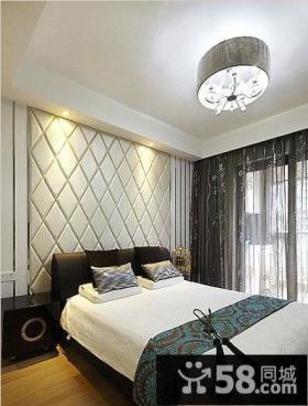 简约风格卧室床头背景墙装修效果图