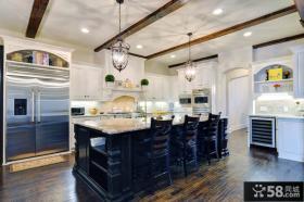 欧式开放式厨房装修效果图大全2013图片