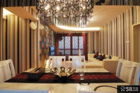 现代风格餐厅看客厅装修图片