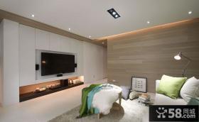 简约风格公寓客厅电视背景墙装修图片