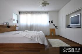 复式装修效果图现代卧室装修效果图